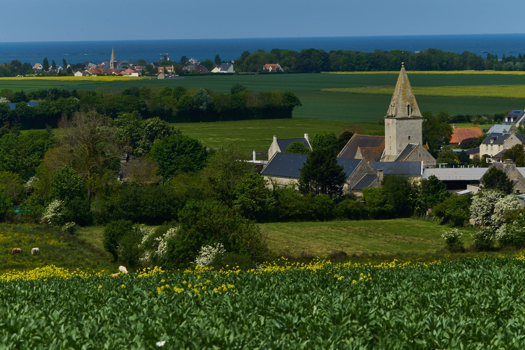 Look onto Arromanches with rest of Mullberry Port
