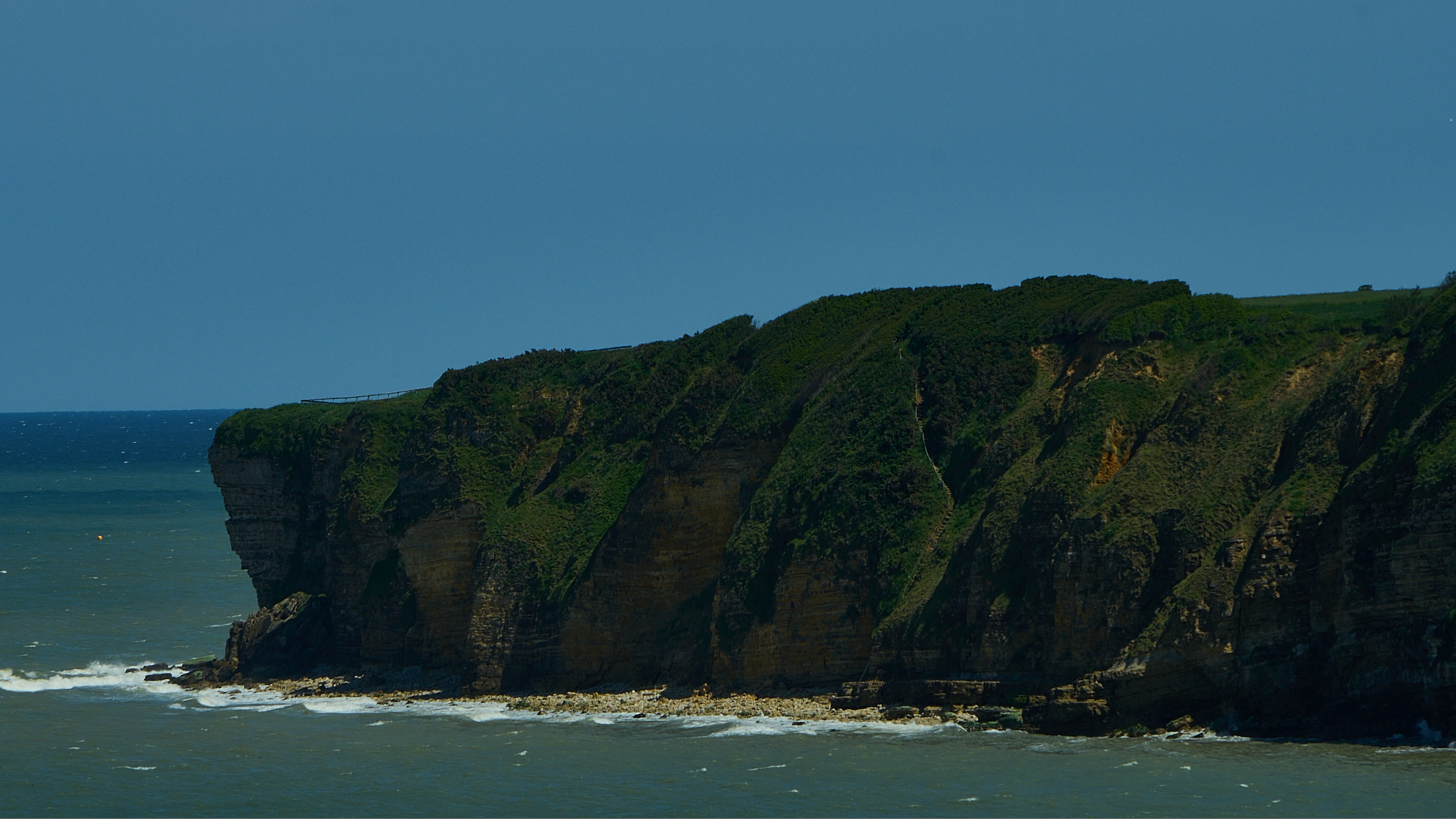 Omaha Beach Cliffs